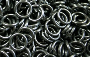 Steel chainmail rings - 8 sizes