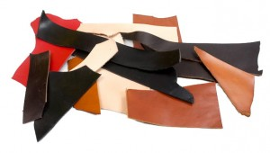 Leather scraps - 3-5 mm - 0.5 kilo